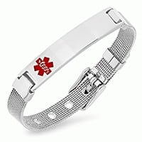 STAINLESS STEEL LADIES MEDICAL ID BRACELET