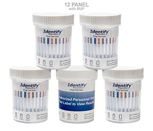 10 Pack Identify Diagnostics 12 Panel Drug Test Cup with BUP Testing