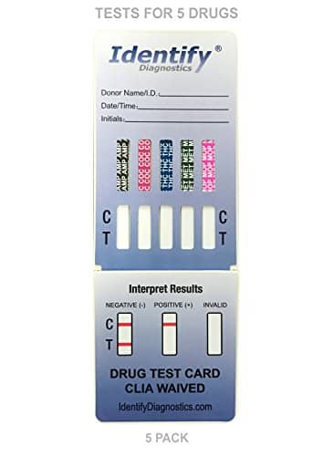 5 Pack Identify Drug Test Dip
