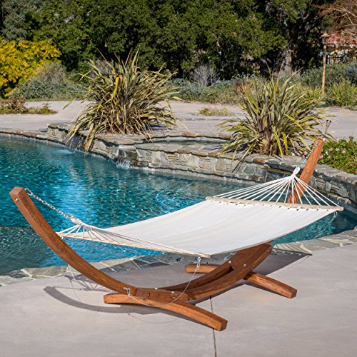 Weston Larch Hammock With Wooden Stand