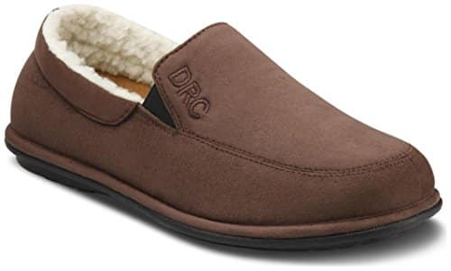 Dr. Comfort Men's Relax Chocolate Diabetic Slippers