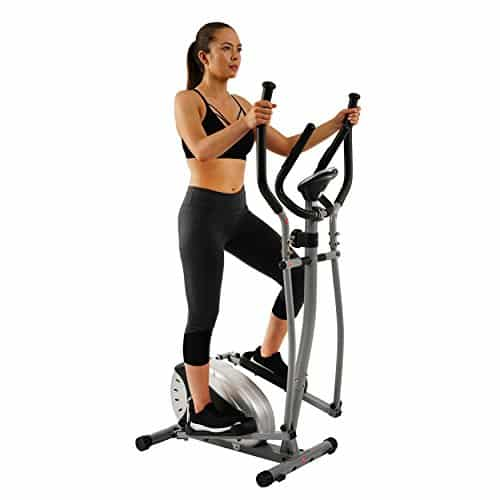 Magnetic Elliptical Machine Trainer by Sunny Health and Fitness SF-E905