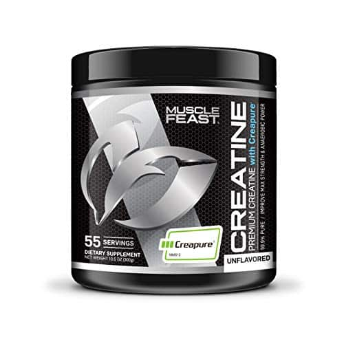 Creapure Creatine Monohydrate Powder - by Muscle Feast | Premium Pre-Workout or Post-Workout(300g, Unflavored)