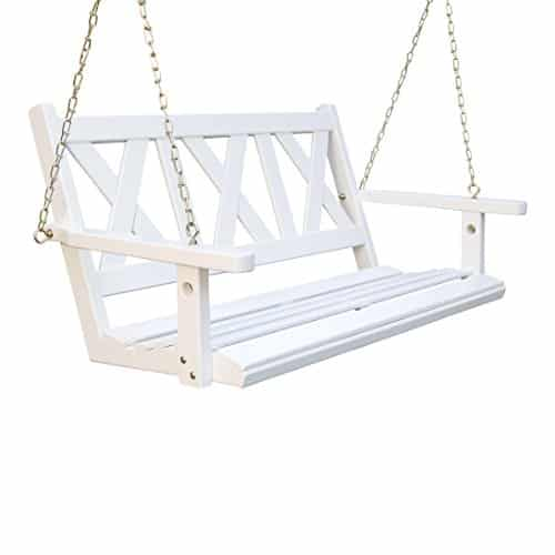Porchgate Amish Haven White Porch Swing