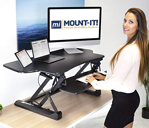 Mount-It! Height Adjustable Standing Desk Converter