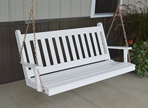 Traditional Yellow Pine Porch Swing