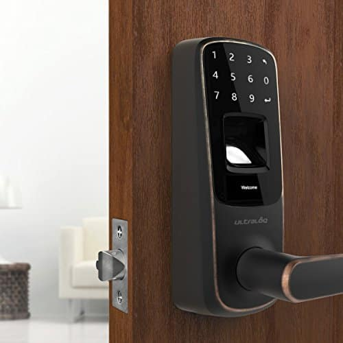 Ultraloq UL3 Fingerprint and Touchscreen Keyless Smart Lever Door Lock