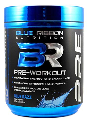 PRE, Highest Quality Pre Workout Powder Supplement (40 Servings). Increases Energy, Strength, Endurance, Focus, Nitric Oxide.