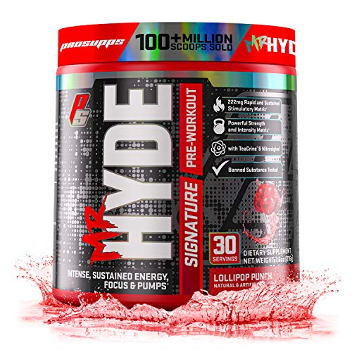 ProSupps Mr. Hyde Signature Series Pre-Workout Energy & Nitric Oxide Boosting Drink – Sustained Energy, Focus & Pumps