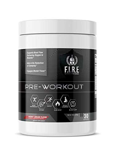 F.I.R.E Keto-Friendly Mesomorph Amino Energy Pre-Workout Supplement with Natural Ingredients for Sharp Focus and Intense Pumps