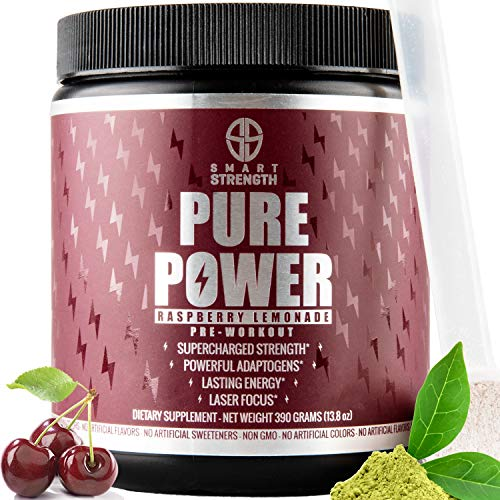 Pre Workout, Best All Natural Keto PreWorkout Supplement. PURE POWER, Healthy Pump, Clean, Vegan, Paleo
