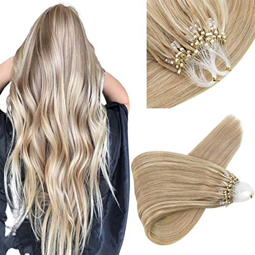 Sunny Blonde Highlight Micro Ring Human Hair Extensions