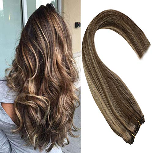 Sunny 24-inch Brown Sew in Hair Extensions