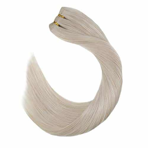 Ugeat Weft Bundle Human Hair 24-inch Real Human Hair Blonde Sew-in Extensions