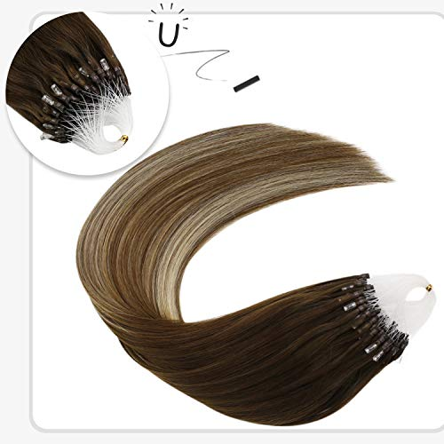Ugeat 24inch Micro Loop Remy Hair Extensions