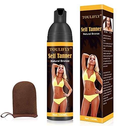 Self Tanner, Self Tanner Mousse, Self Tanner with Mitt by TOULIFLY