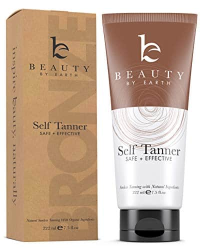 Self Tanner - With Organic Aloe Vera & Shea Butter, Sunless Tanning Lotion and Bronzer