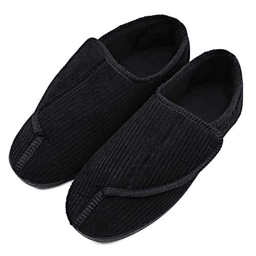 Men's Diabetic Slippers Adjustable House Shoes