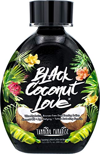 Tanning Paradise Black Coconut Love Tanning Lotion | Coconut Oil (13.5 oz)